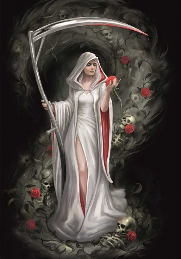 ANNE STOKES Life Blood Gothic Greeting Card
